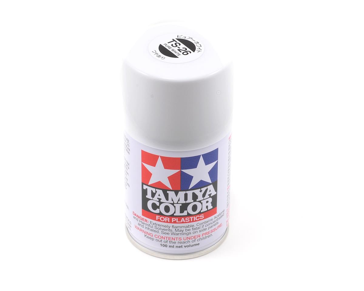 Tamiya Ts 26 Pure White Lacquer Spray Paint 3oz Tam85026 Cars Trucks Amain Hobbies