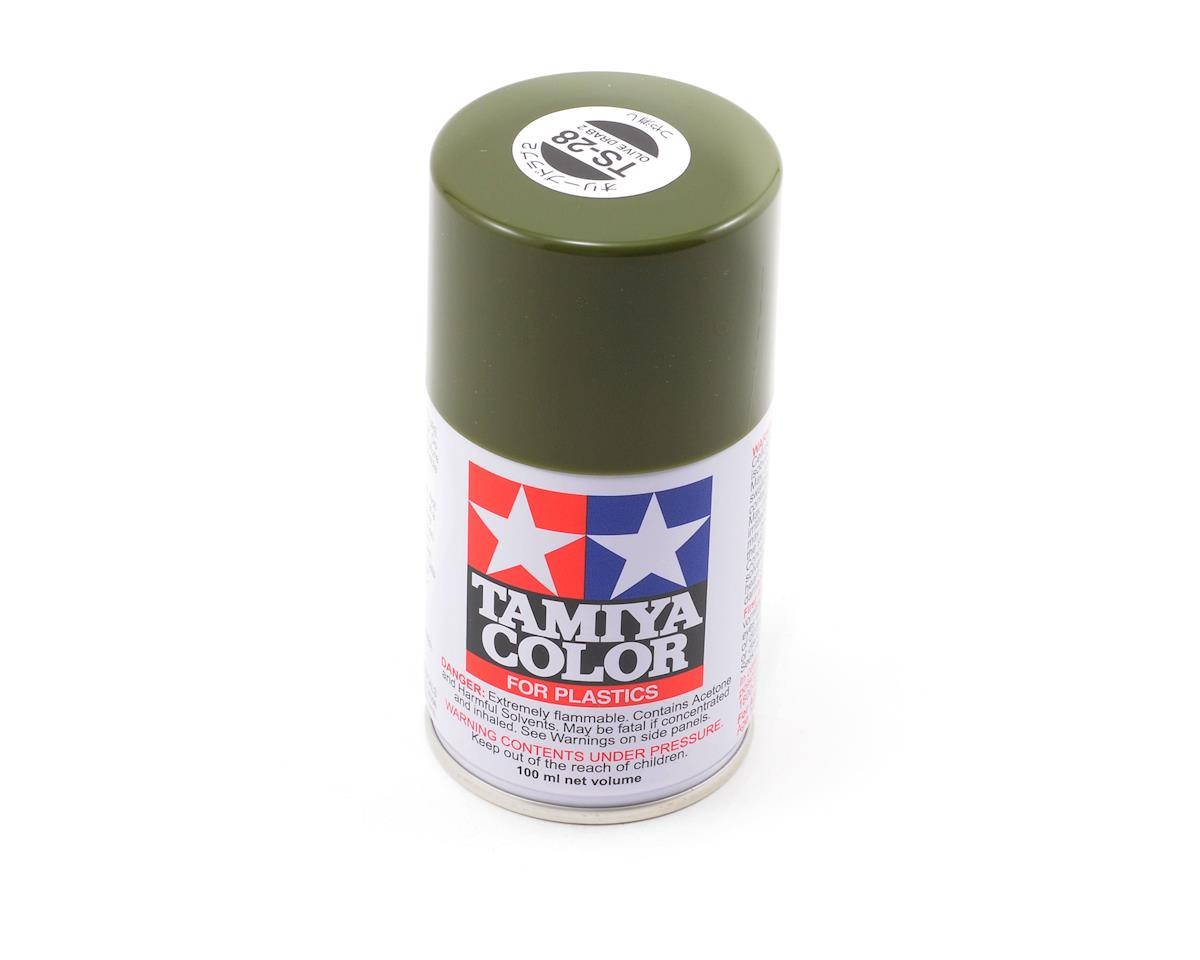 TS-28 Olive Drab Lacquer Spray Paint (3oz) by Tamiya