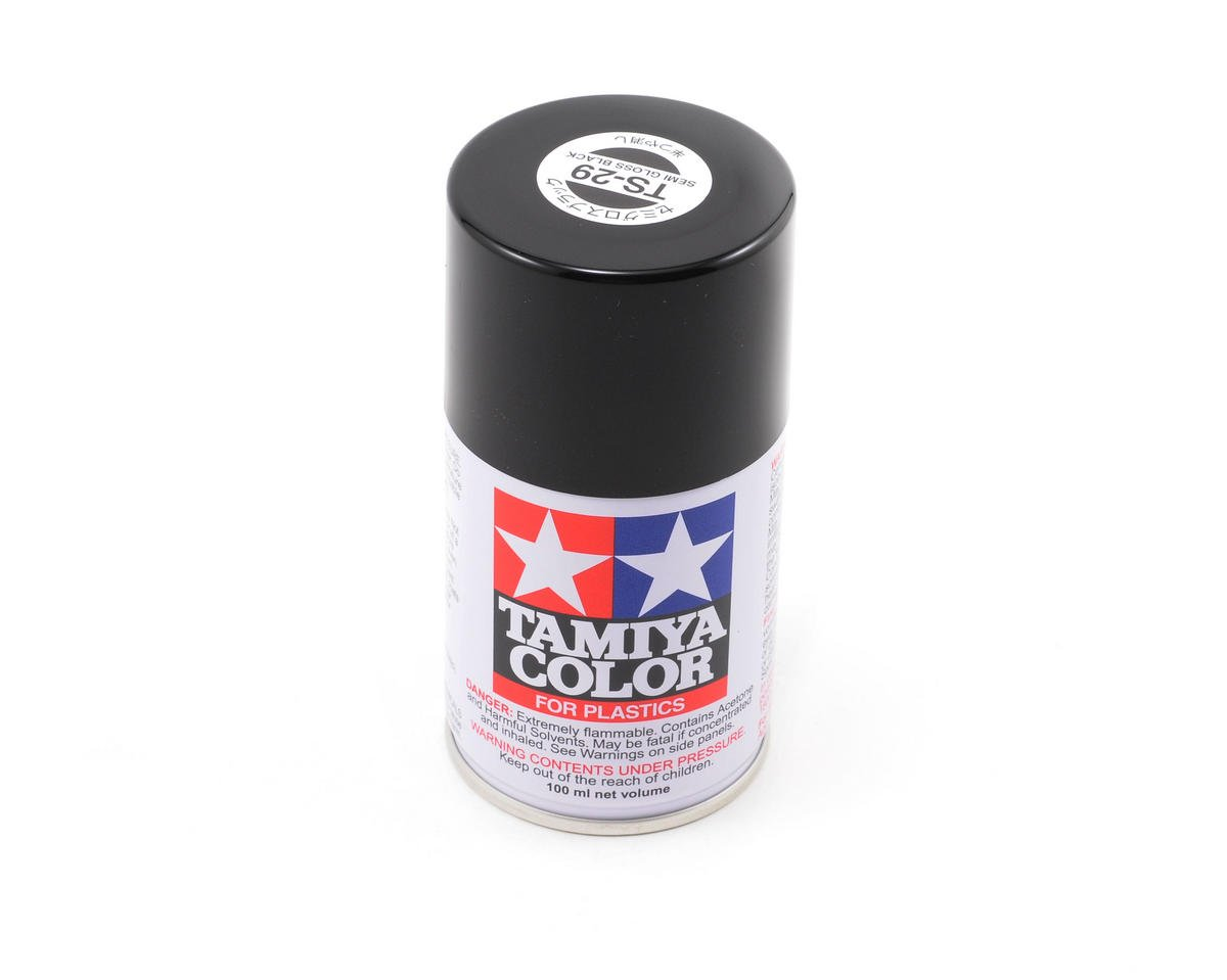 Tamiya TS-29 Semi-Gloss Black Lacquer Spray Paint (100ml)