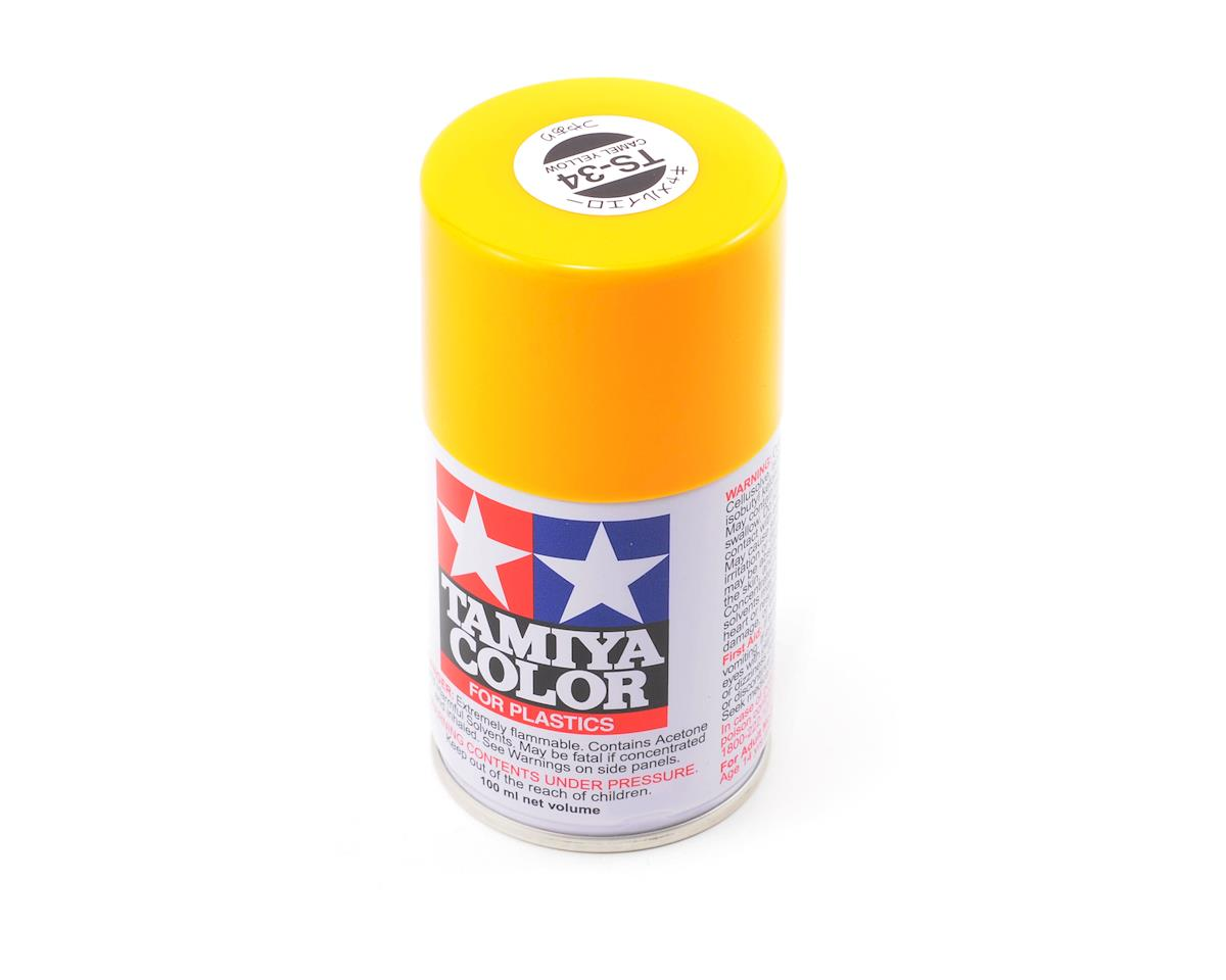 TS-34 Camel Yellow Lacquer Spray Paint (3oz) by Tamiya