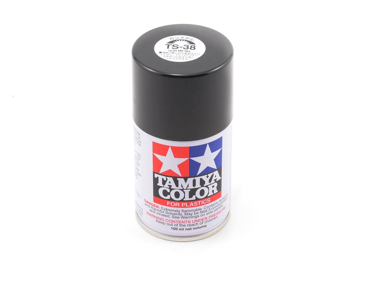 TS-38 Gun Metal Lacquer Spray Paint (3oz) by Tamiya