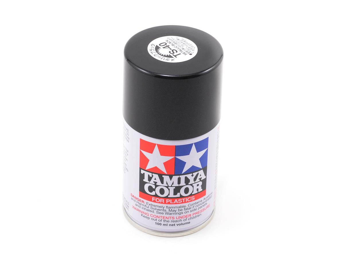 Tamiya TS-40 Metal Black Lacquer Spray Paint (100ml)