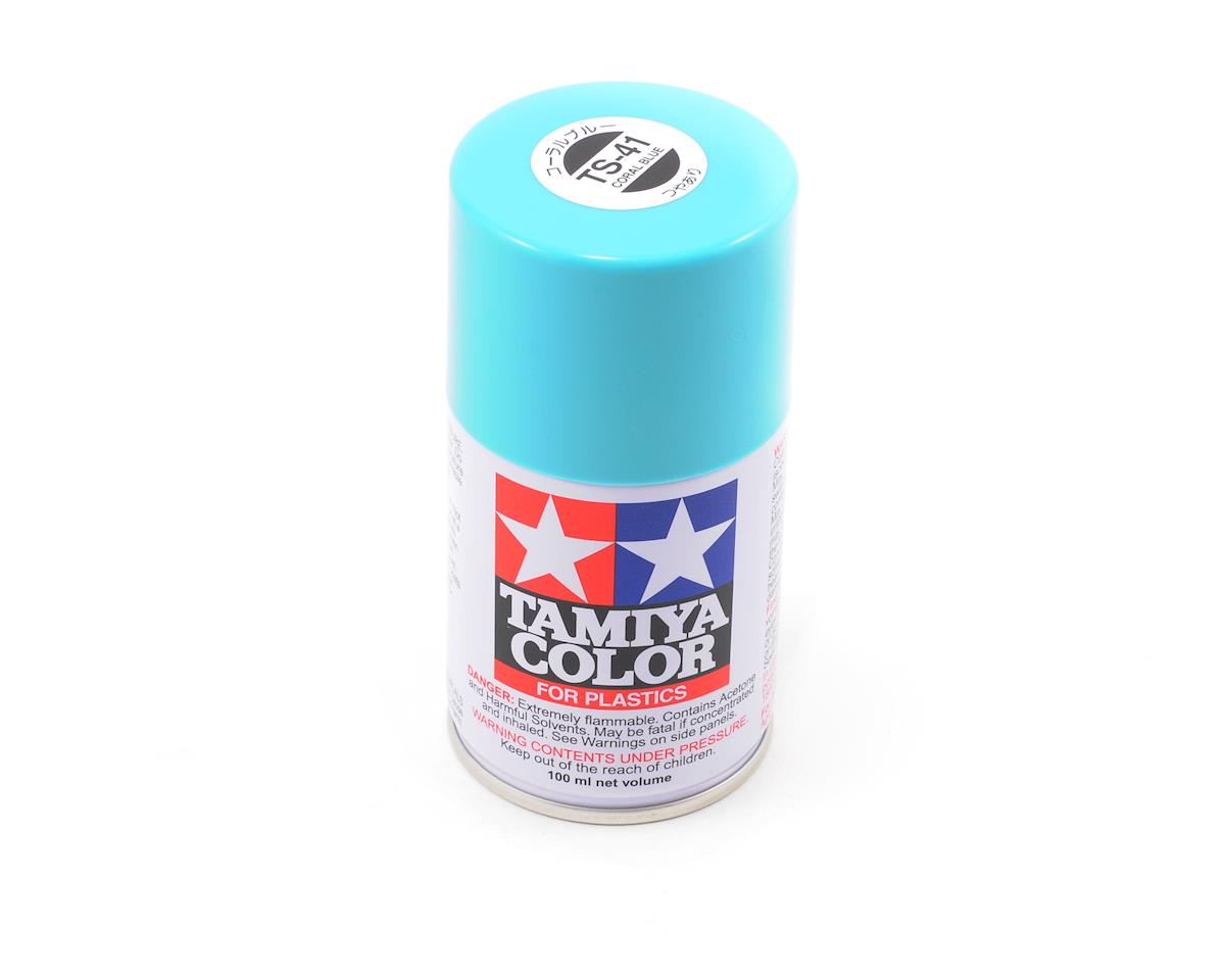 Tamiya TS-41 Coral Blue Lacquer Spray Paint (3oz)