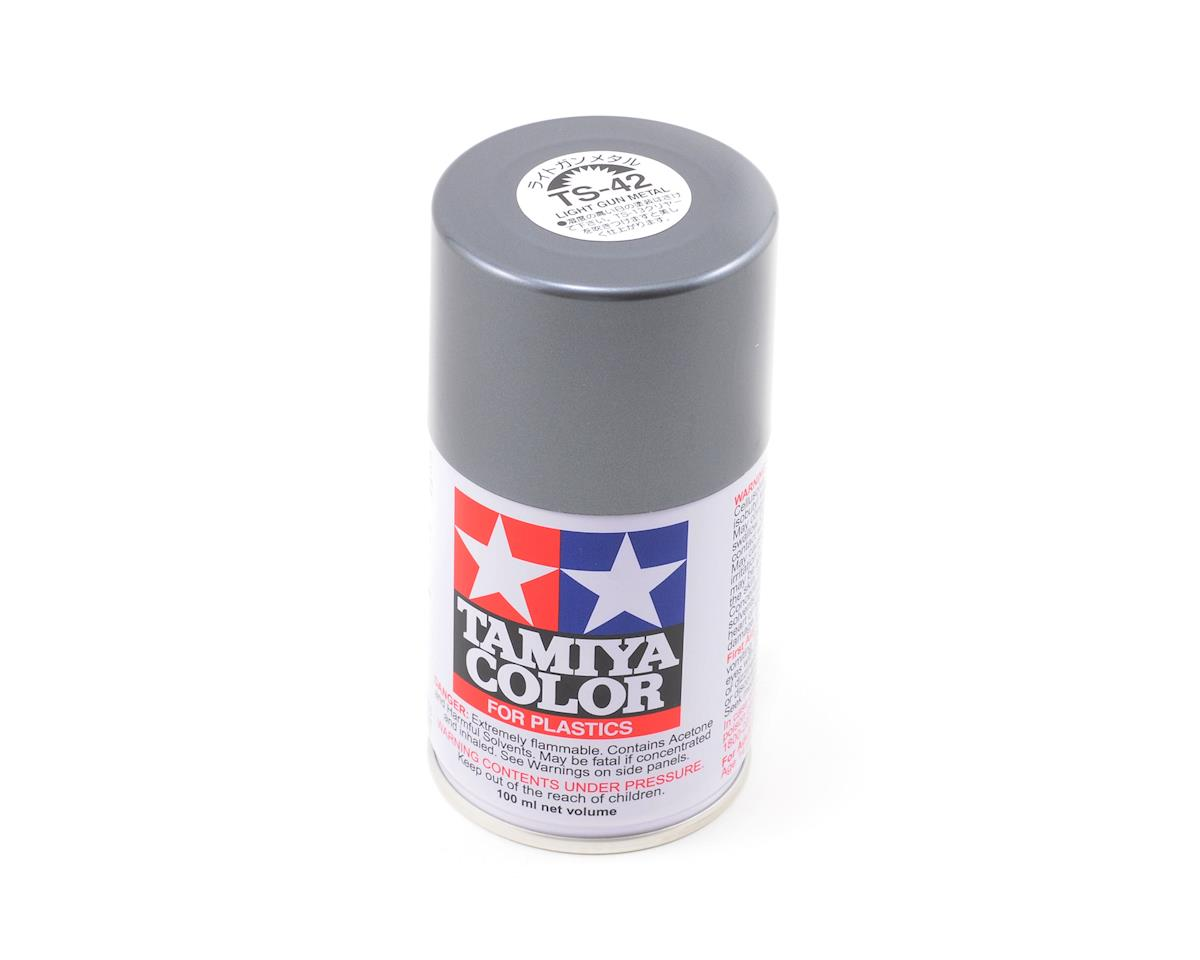 Tamiya TS-42 Light Gun Metal Lacquer Spray Paint (3oz)