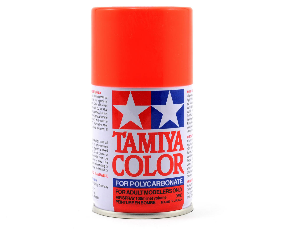 Tamiya PS-20 Fluorescent Red Lexan Spray Paint (3oz)