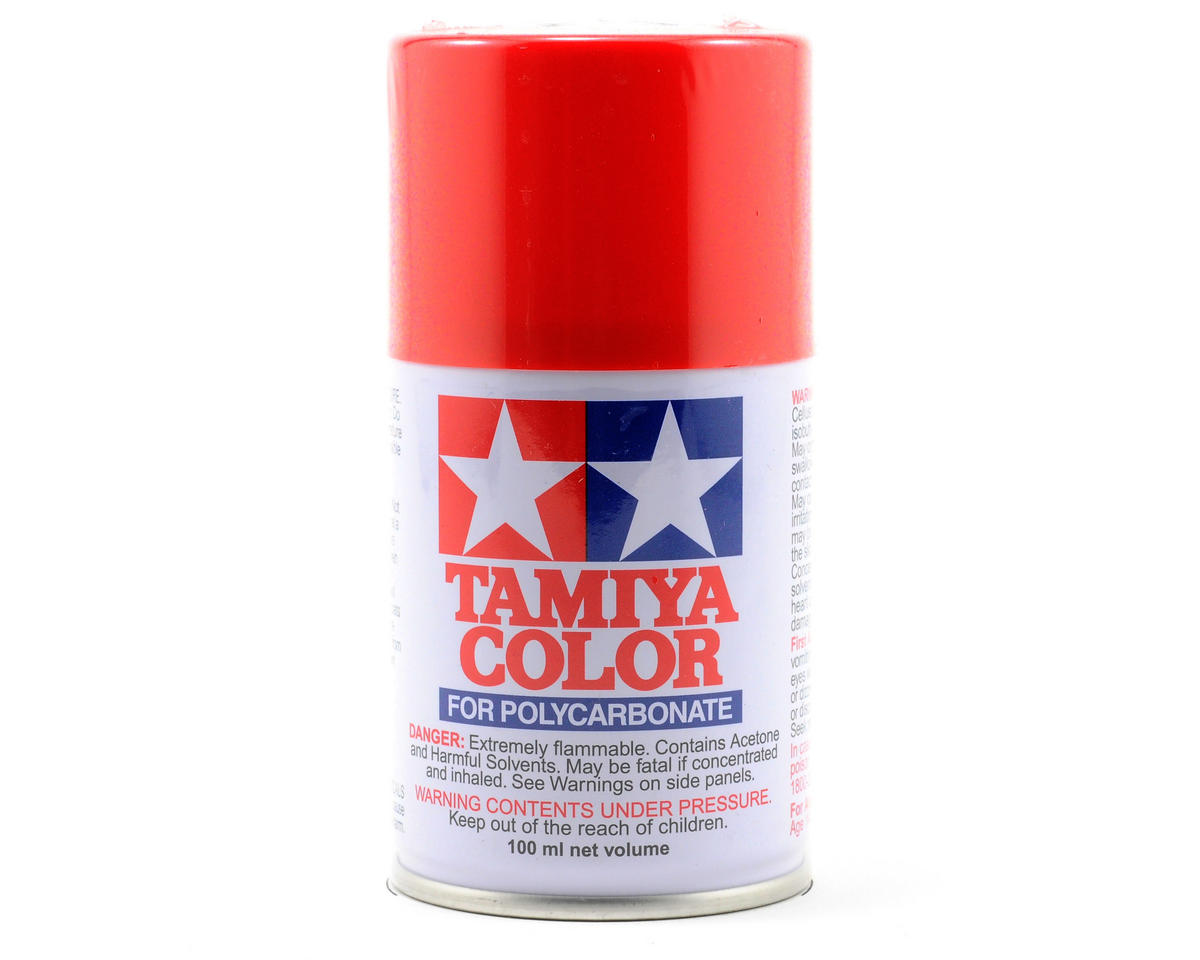 Tamiya PS-34 Bright Red Lexan Spray Paint (3oz)