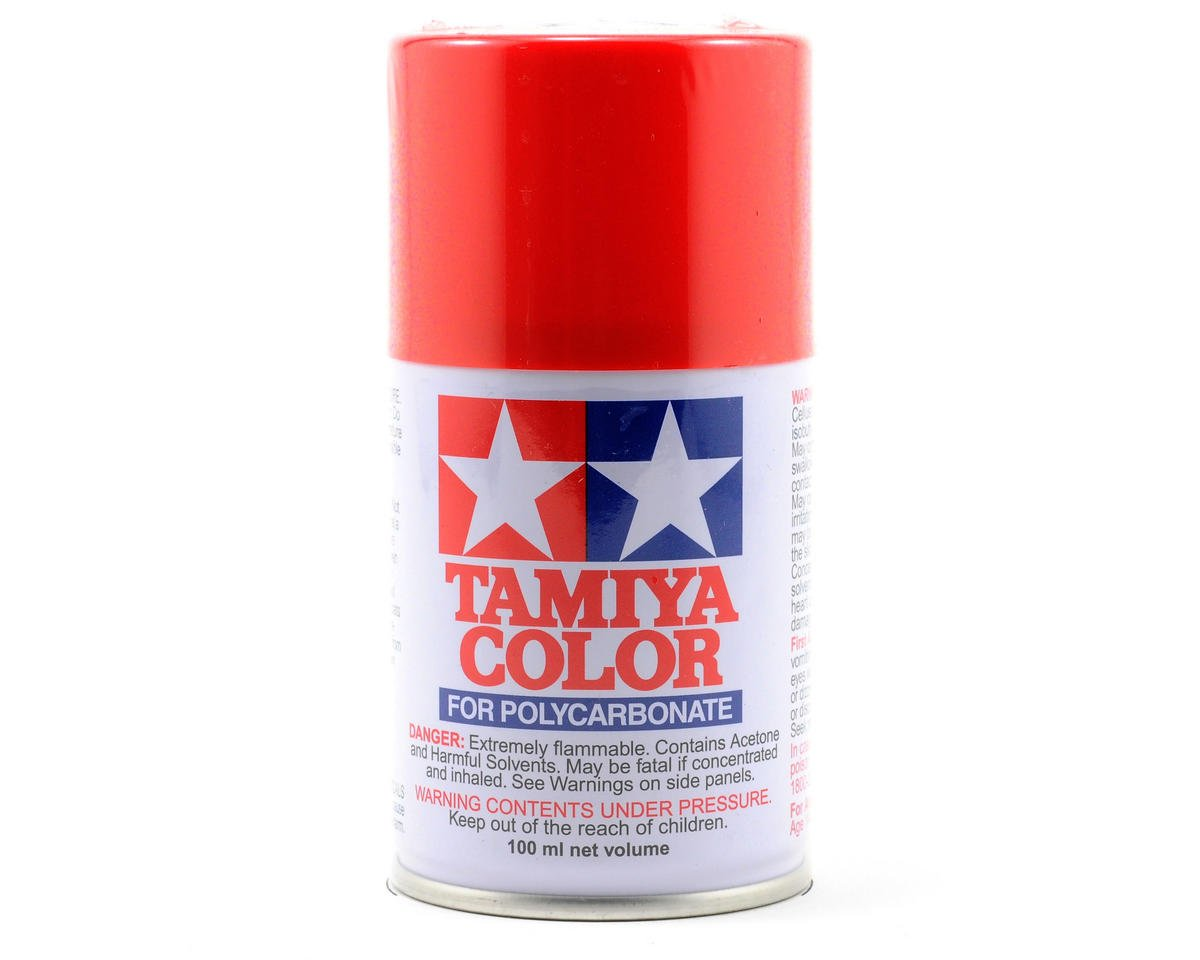 PS-34 Bright Red Lexan Spray Paint (3oz) by Tamiya