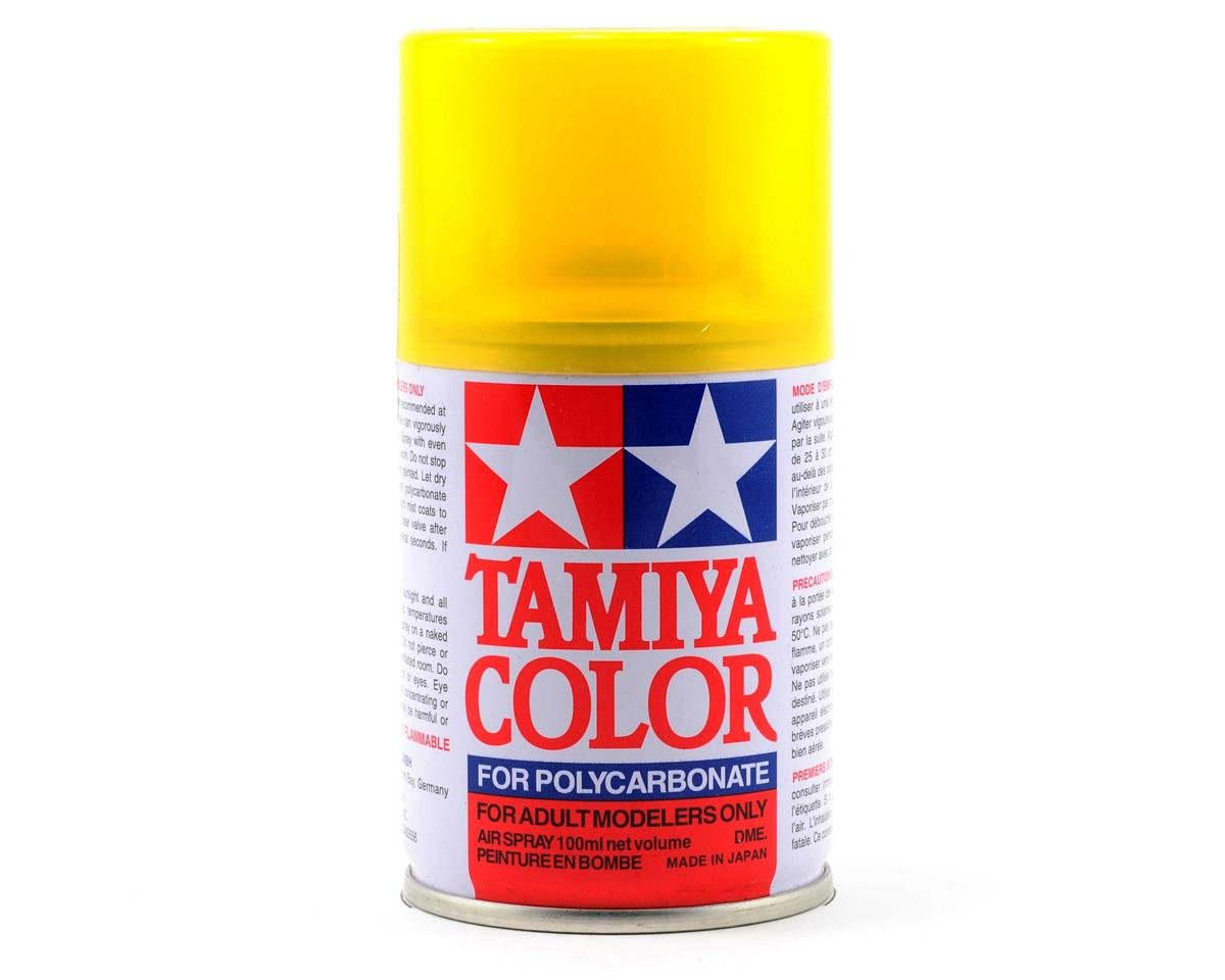 PS-42 Translucent Yellow Lexan Spray Paint (3oz) by Tamiya