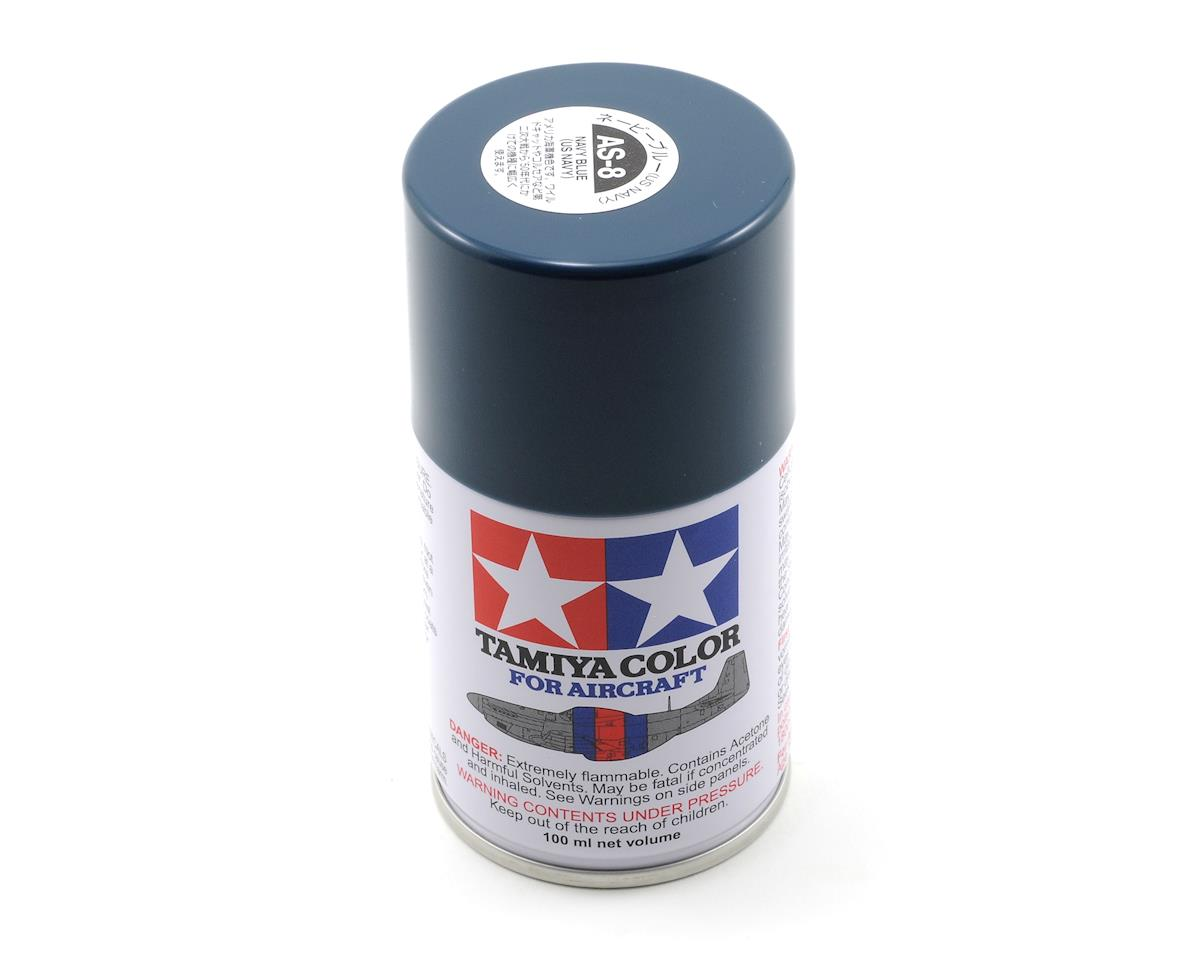 Tamiya AS-8 Navy Blue Aircraft Lacquer Spray Paint (100ml) (US NAVY)