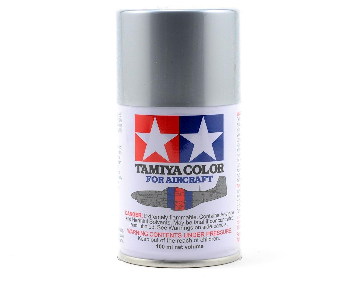 Tamiya AS-12 Bare Metal Silver Aircraft Lacquer Spray Paint (100ml)
