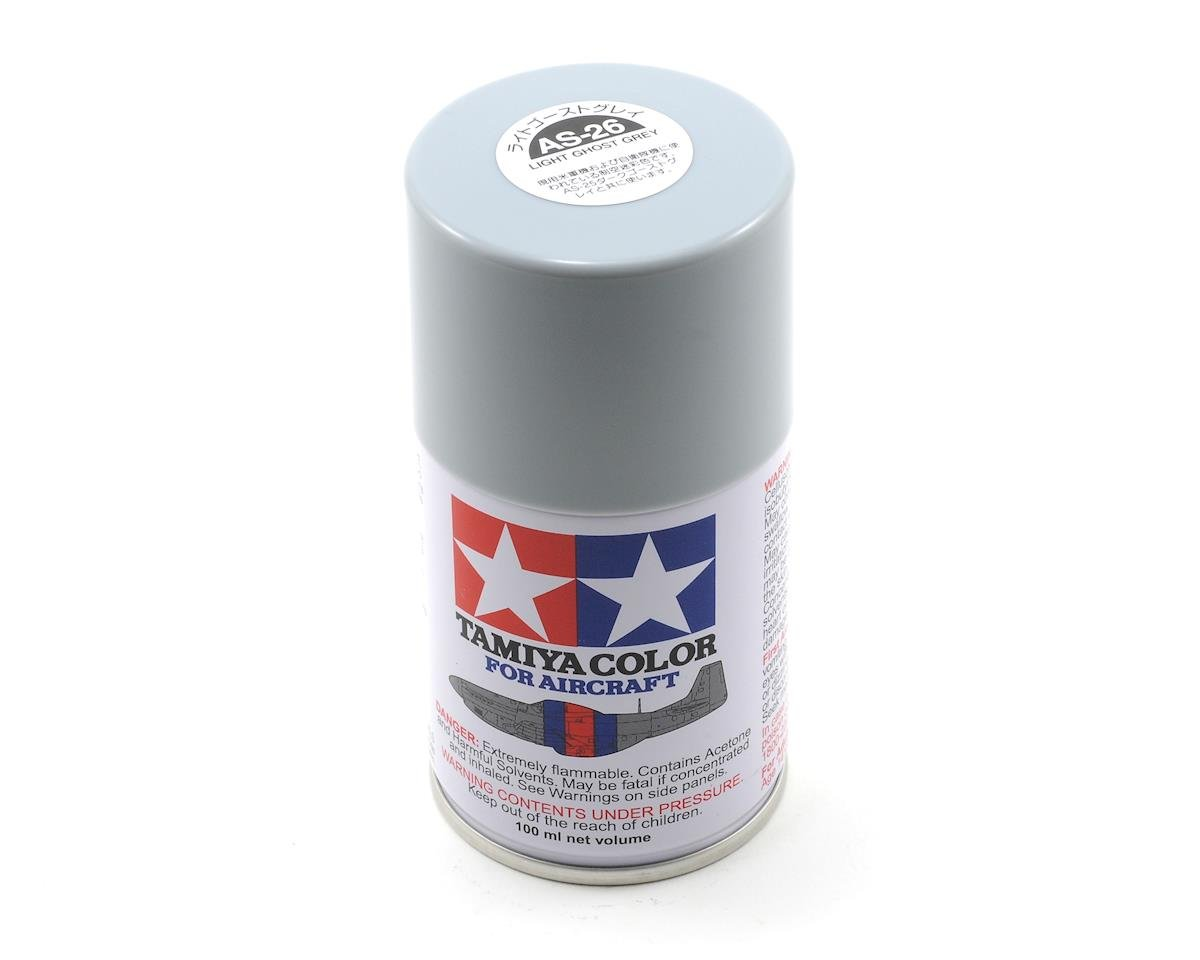 Tamiya AS-26 Aircraft Lacquer Spray Paint (Light Ghost Grey) (100ml) | alsopurchased