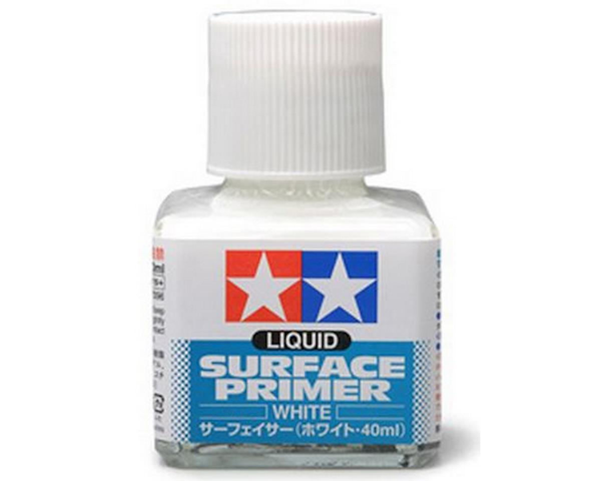 Wht Liquid Surface Primer 40ml by Tamiya