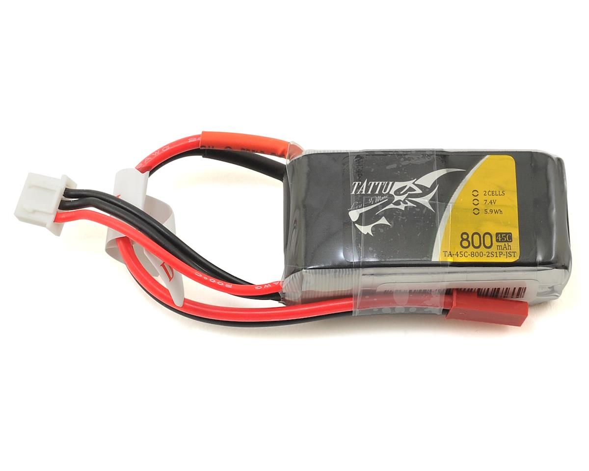 2s LiPo Battery Pack 45C w/JST (7.4V/800mAh) by Tattu