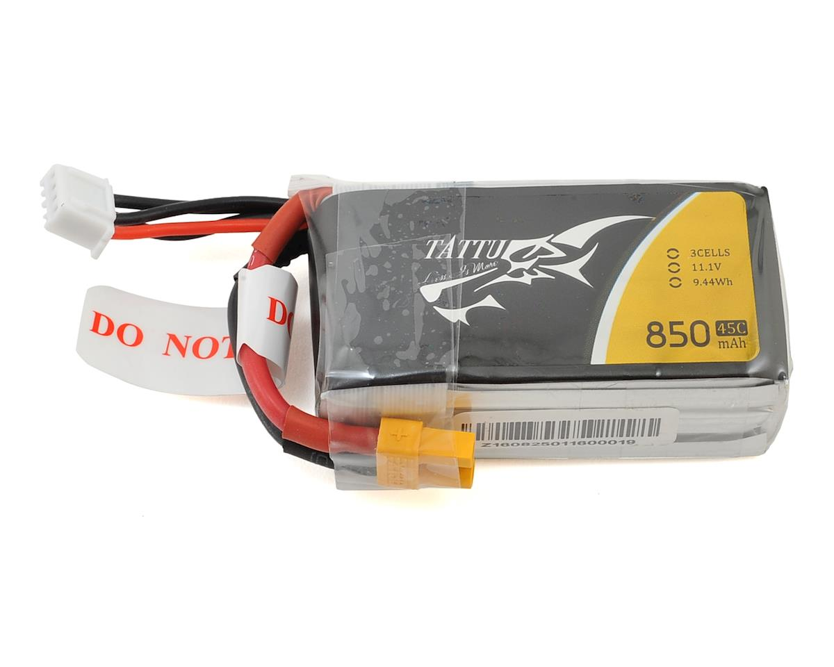 Tattu 3s LiPo Battery Pack 45C (11.1V/850mAh)