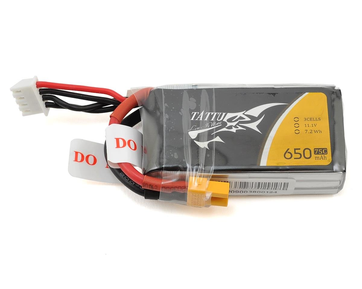 Tattu 3s LiPo Battery Pack 75C (11.1V/650mAh)
