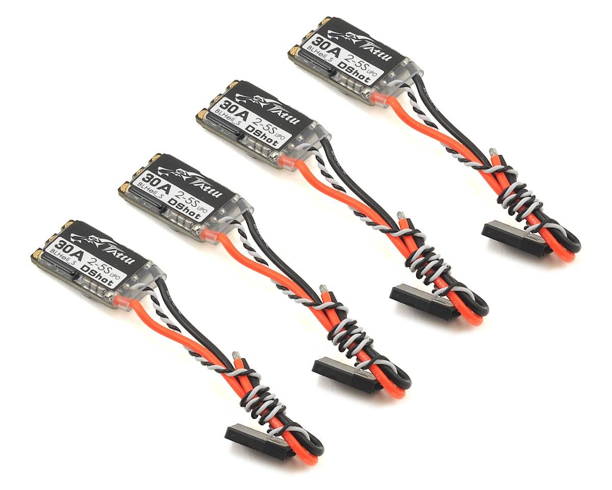 30A BLHeli_S Brushless DShot ESC Set (4) by Tattu