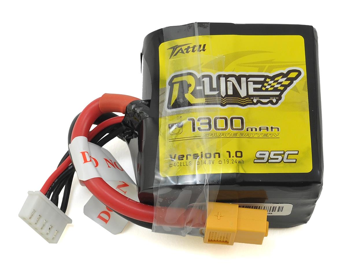 """R-Line"" Square 4s LiPo Battery 95C (14.8V/1300mAh) by Tattu"