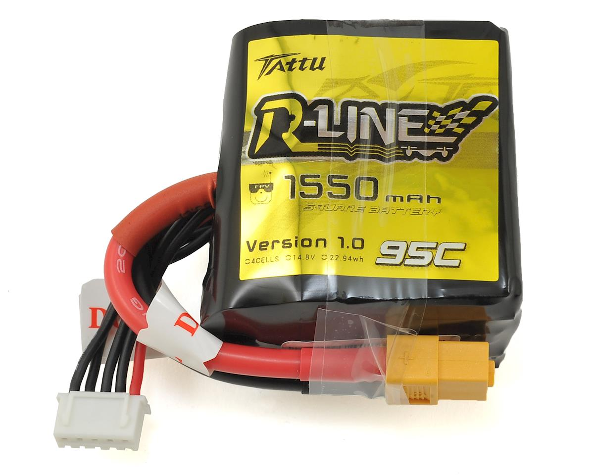 """R-Line"" Square 4s LiPo Battery 95C (14.8V/1550mAh) by Tattu"
