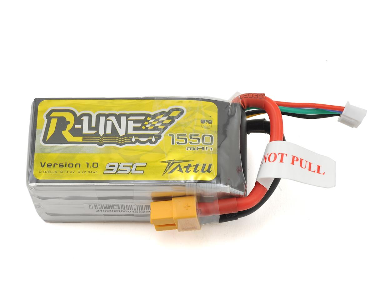 """R-Line"" 4S LiPo Battery 95C (14.8V/1550mAh) (JST-XH) by Tattu"