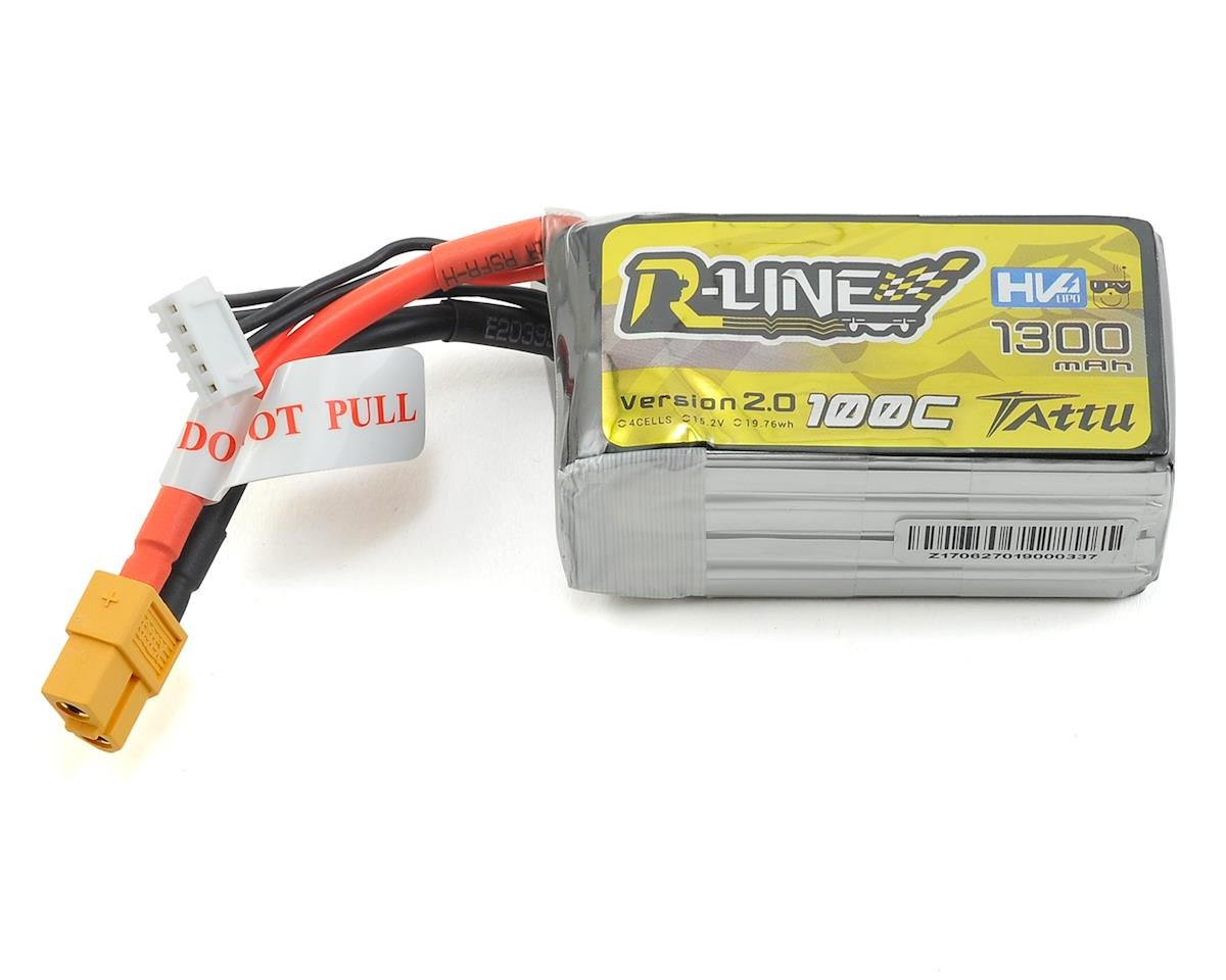 """R-Line"" High Voltage 4S LiPo Battery 100C (15.2V/1300mAh) (JST-XH)"