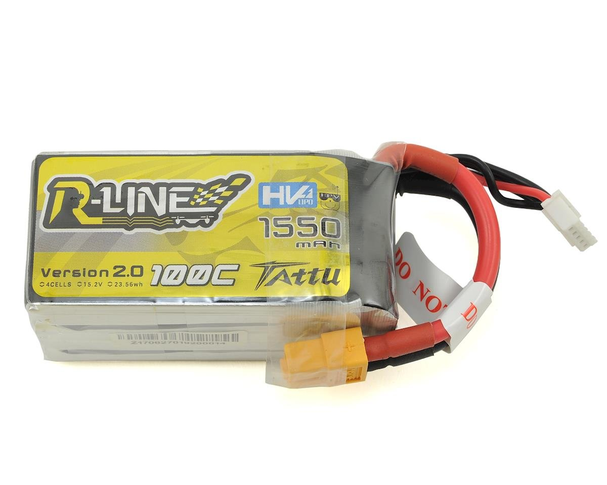 """R-Line"" 2.0 High Voltage 4S LiPo Battery 100C (15.2V/1550mAh) (JST-XH)"