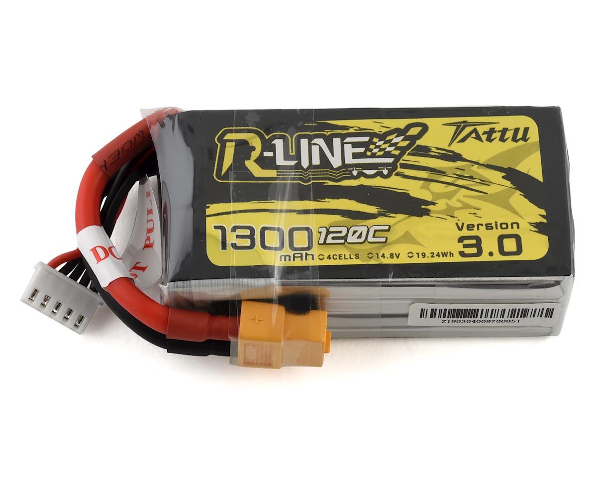 "Tattu ""R-Line 3.0"" 4S LiPo Battery 120C (14.8V/1300mAh) (JST-XH)"
