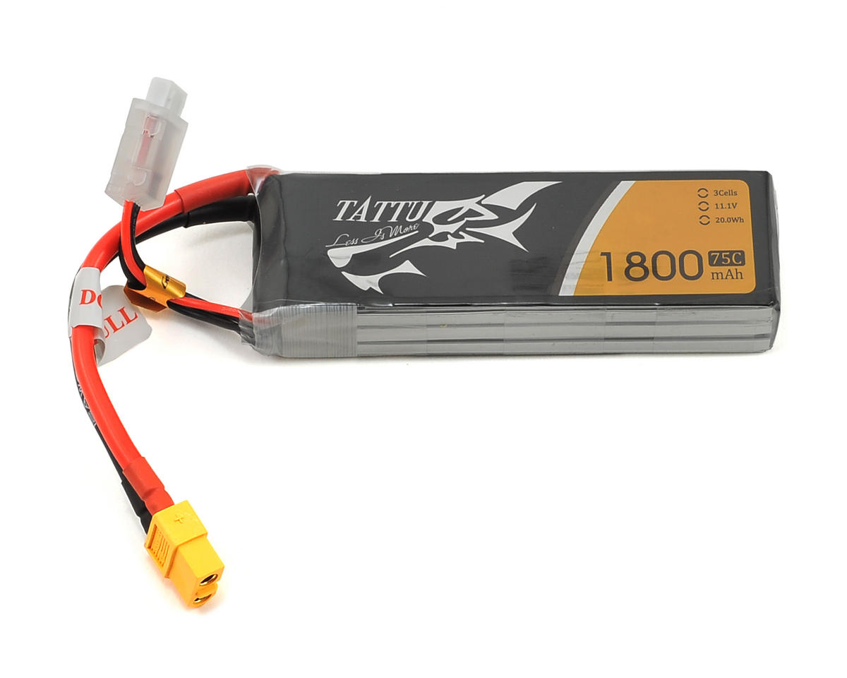 Tattu 3S LiPo Battery 75C (11.1V/1800mAh) (JST-XH)