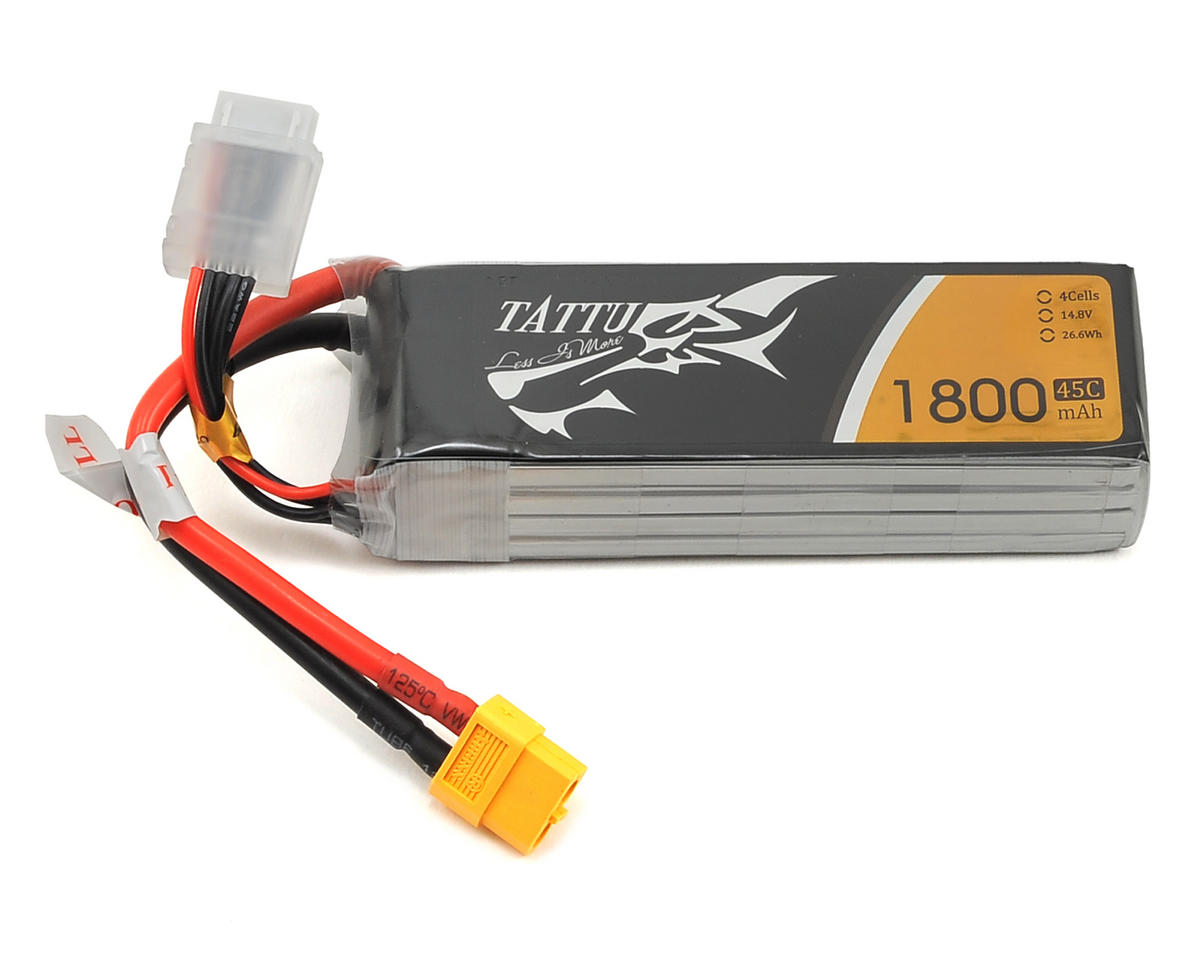 4S LiPo Battery 45C (14.8V/1800mAh) (JST-XH) by Tattu