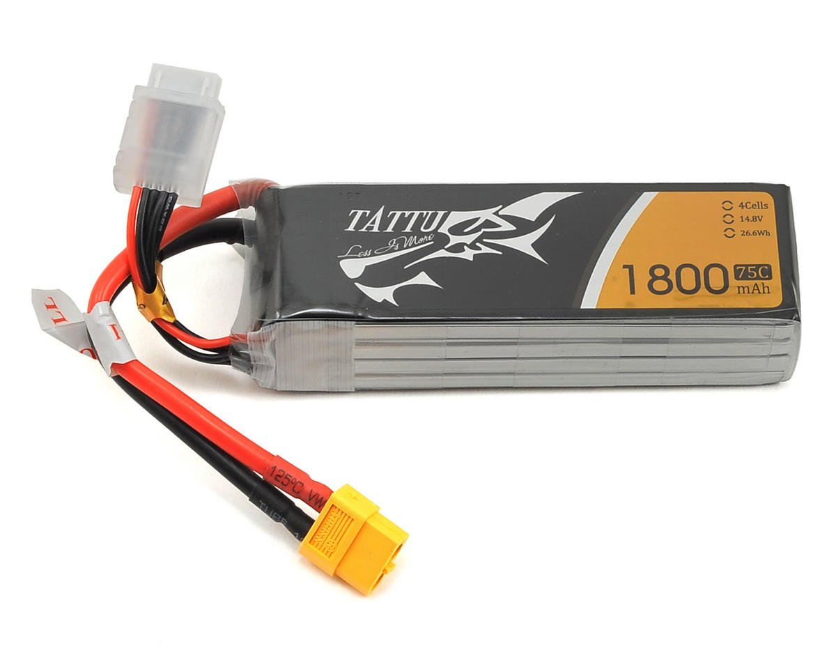 Tattu 4S LiPo Battery 75C (14.8V/1800mAh) (JST-XH)