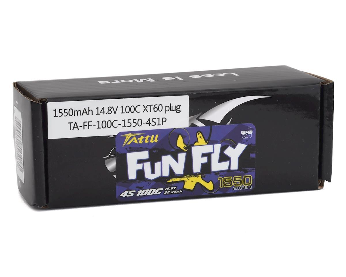 Image 2 for Tattu FunFly 4S LiPo Battery 100C (14.8V/1550mAh) (JST-XH)