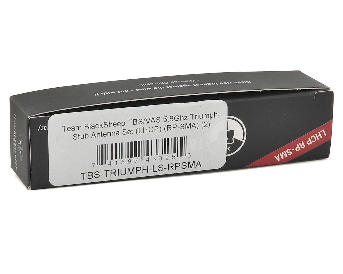 Team BlackSheep TBS/VAS 5.8Ghz Triumph-Stub Antenna Set (LHCP) (RP-SMA) (2)