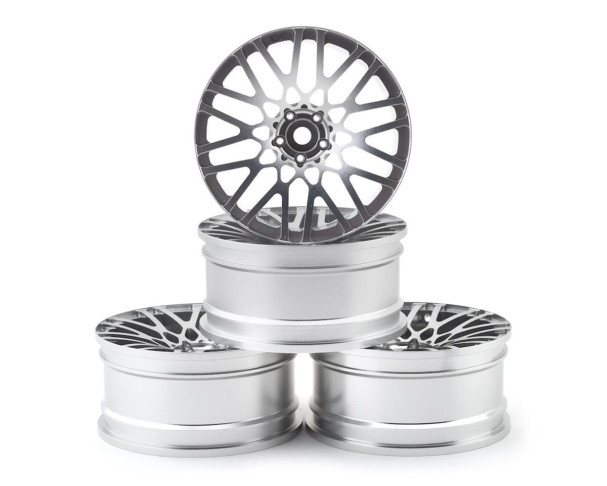 Team DC BLQ Aluminum 1/10 Drift Wheel Set (Silver) (4) (+6 Offset)
