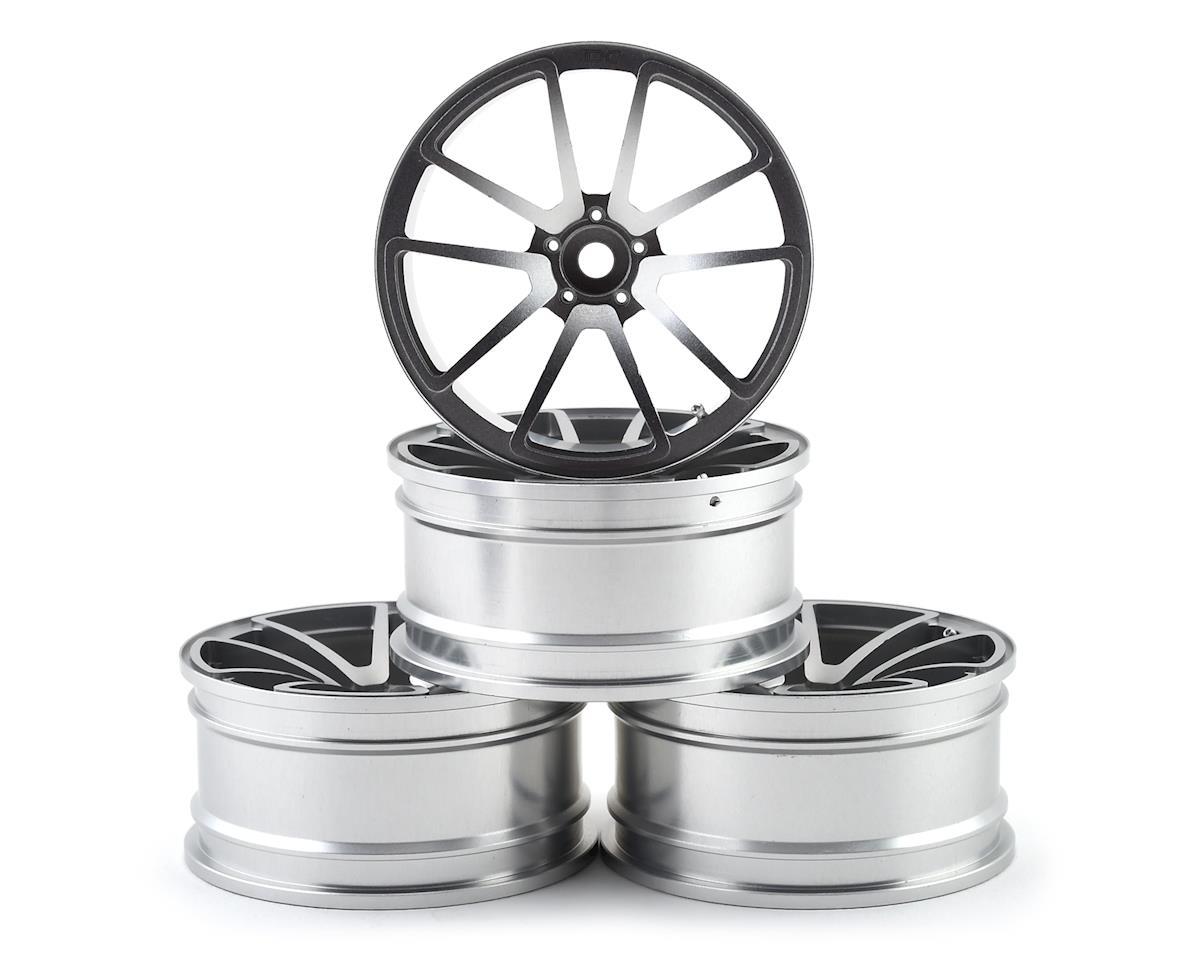 Team DC SPF 1/10 Drift Wheel Set (Silver) (4) (+9 Offset)