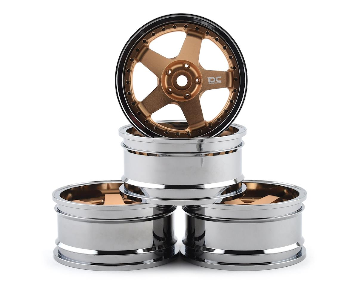 Team DC DC-GF 1/10 Drift Wheel Set (Gold) (4) (+6/+9 Offset)