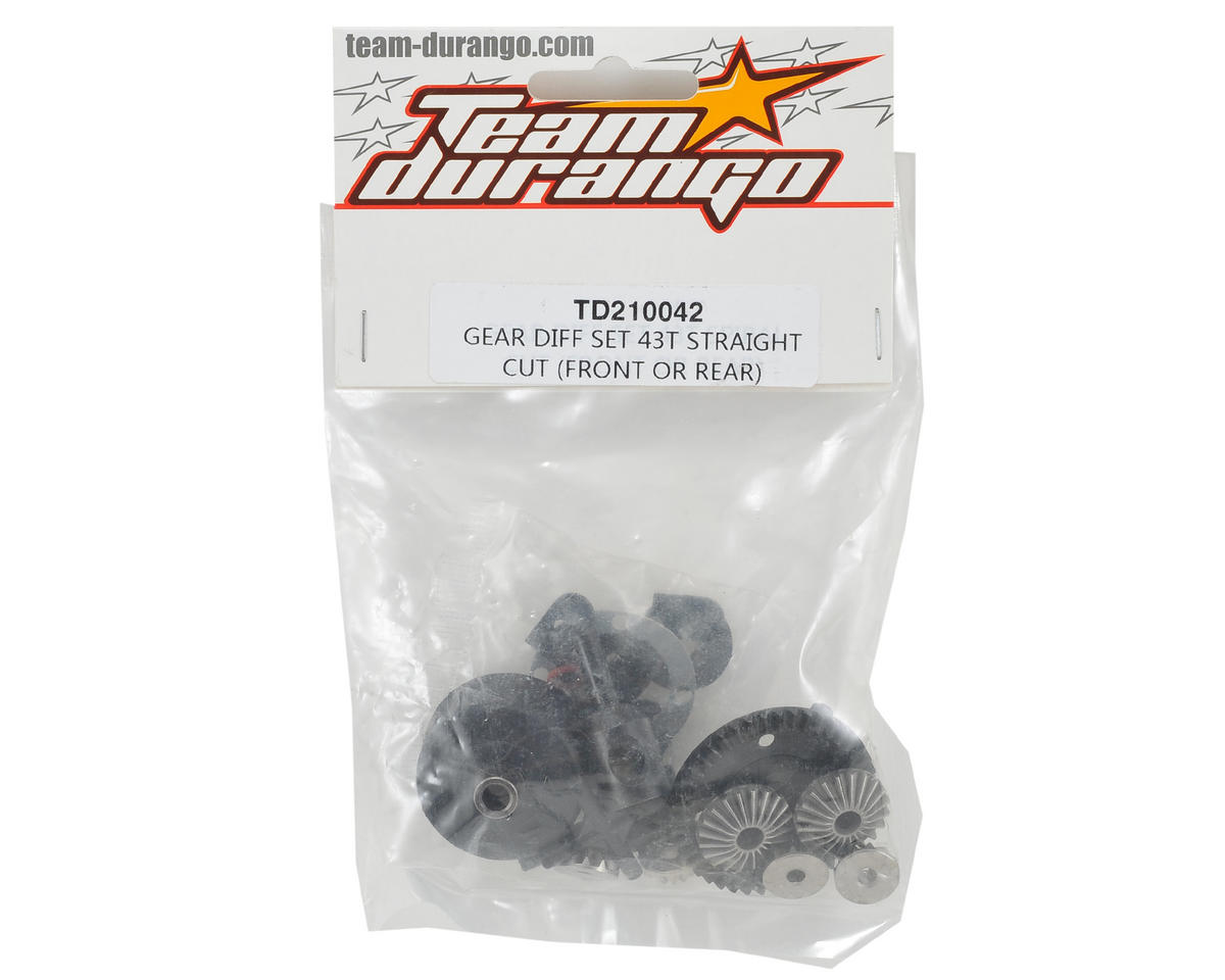 Team Durango Front/Rear Differential Gear Set (43T)