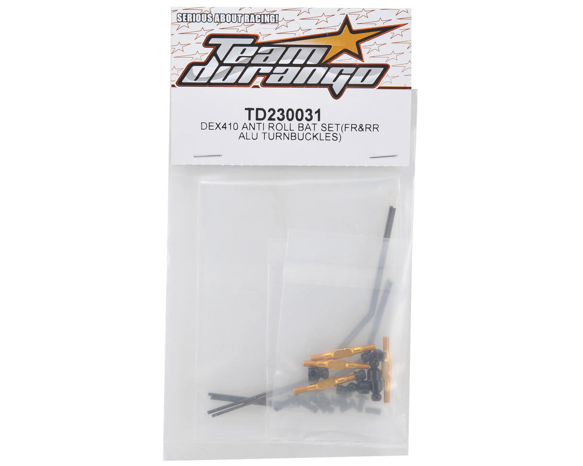 Team Durango Front/Rear Anti-Roll Bar Set w/Aluminum Turnbuckles