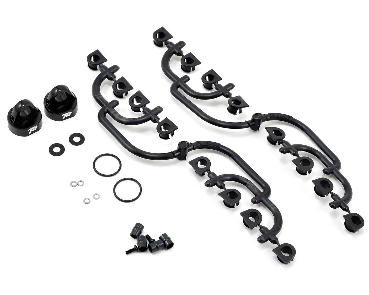 Team Durango DEX410R V3 Big Bore Aluminum Shock Cap Set (Black)