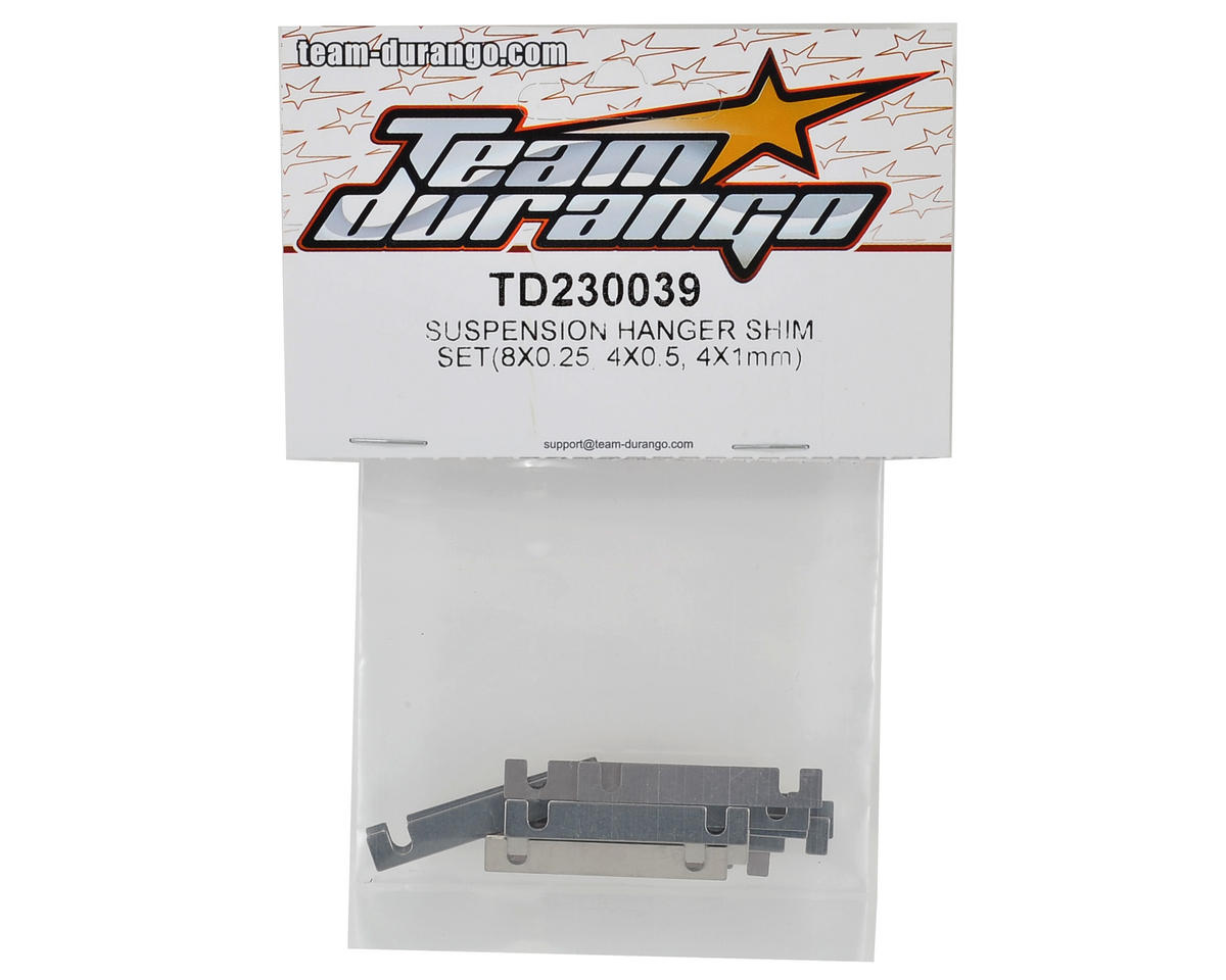 Team Durango Suspension Hanger Shim Set (0.25/0.50/1.00mm)