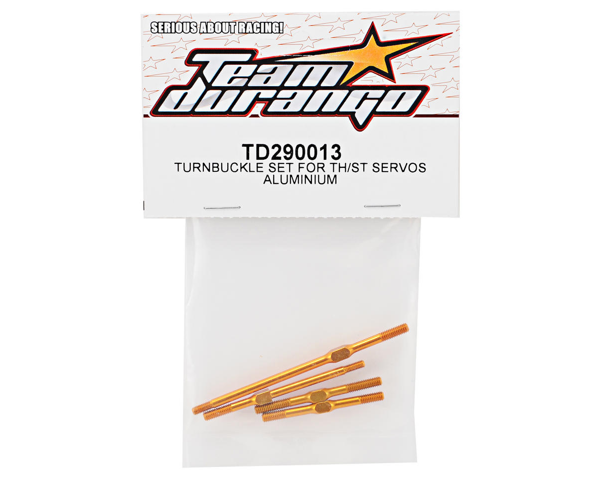 Team Durango Aluminum Throttle & Steering Turnbuckle Set (4)