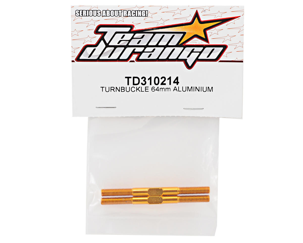 Team Durango 5x64mm Aluminum Turnbuckle Set (2)