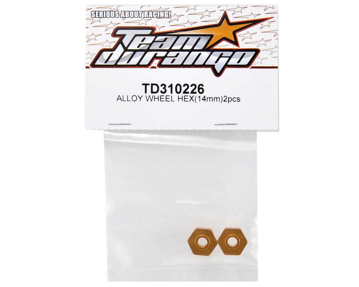 Team Durango Alloy 14mm Wheel Hex Set (2)