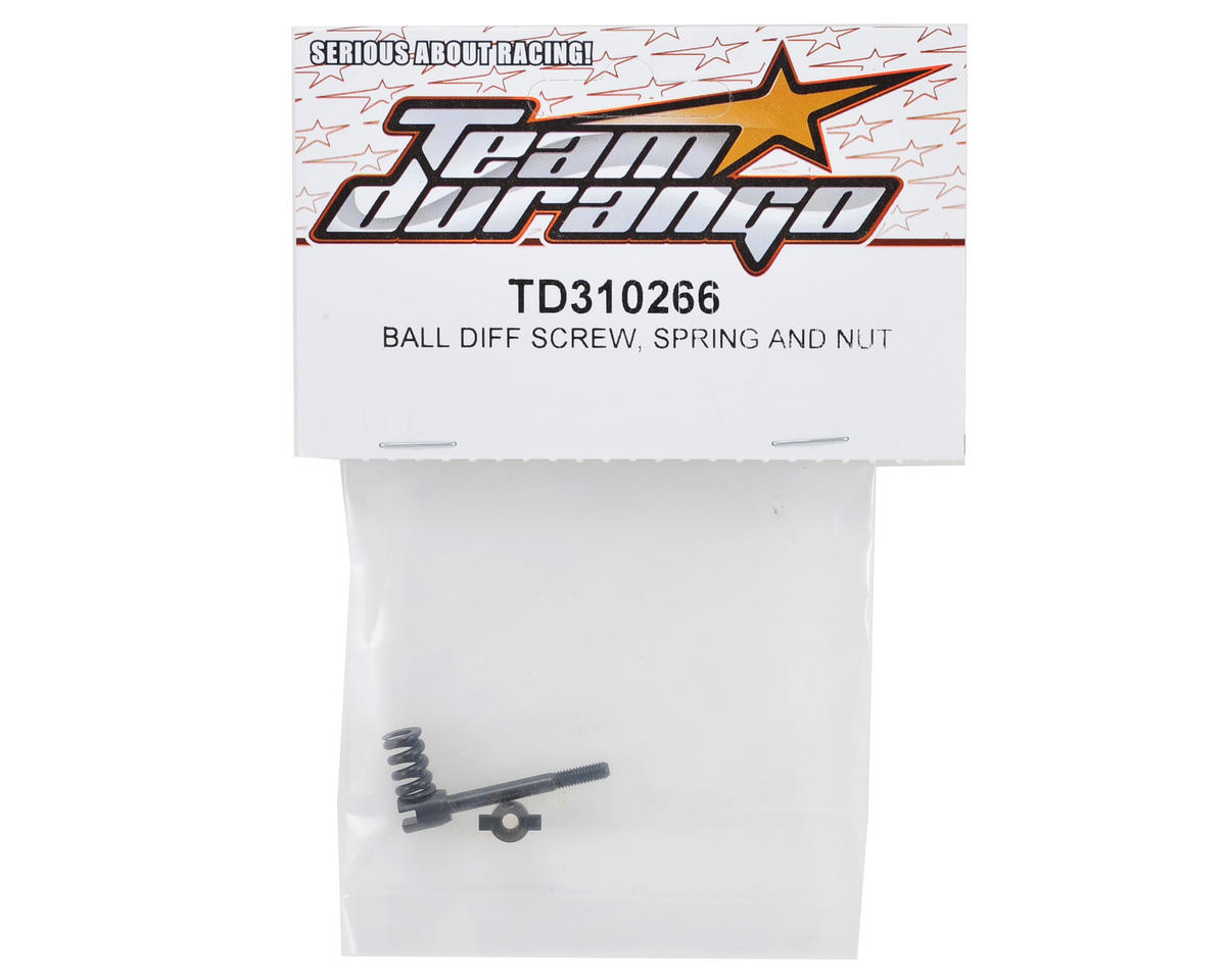 Team Durango Ball Differential Screw, Spring & Nut Set
