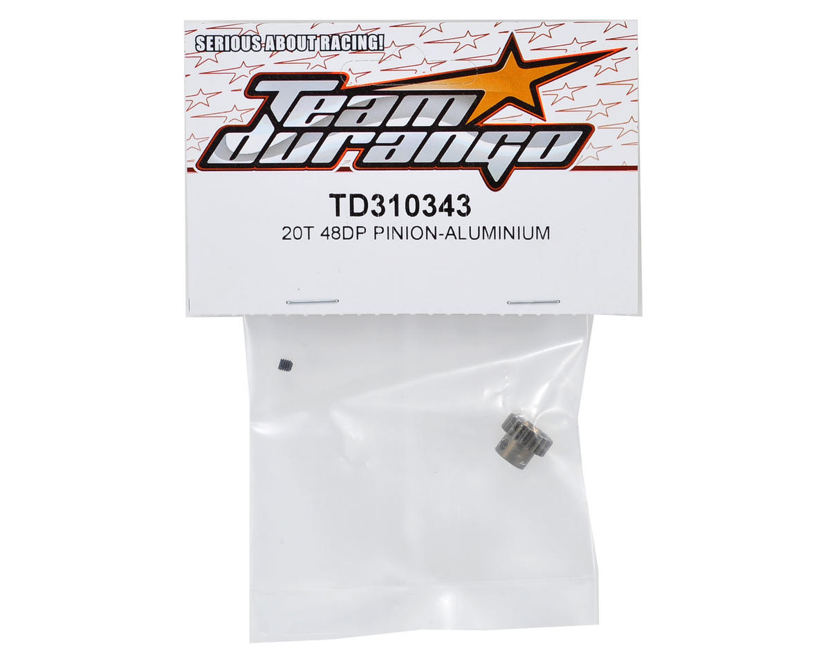 Team Durango Aluminum 48P Pinion Gear (3.17mm Bore) (20T)