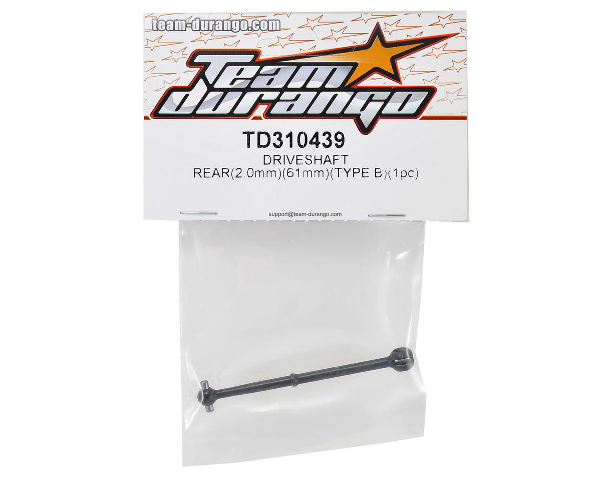 Team Durango 61x2.0mm Rear Drive Shaft (B-Type)