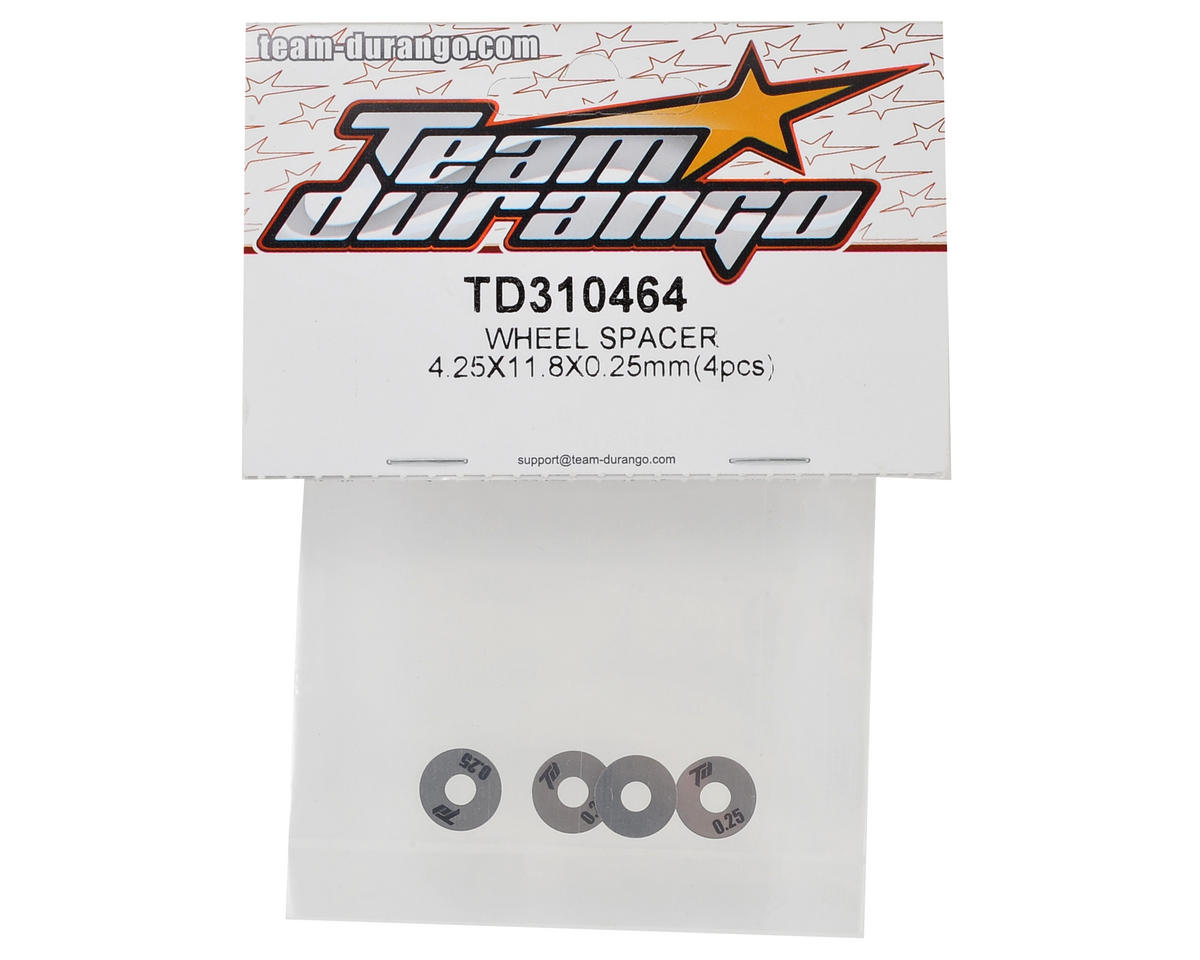 Team Durango 4.25x11.8x0.25mm Wheel Spacer (4)