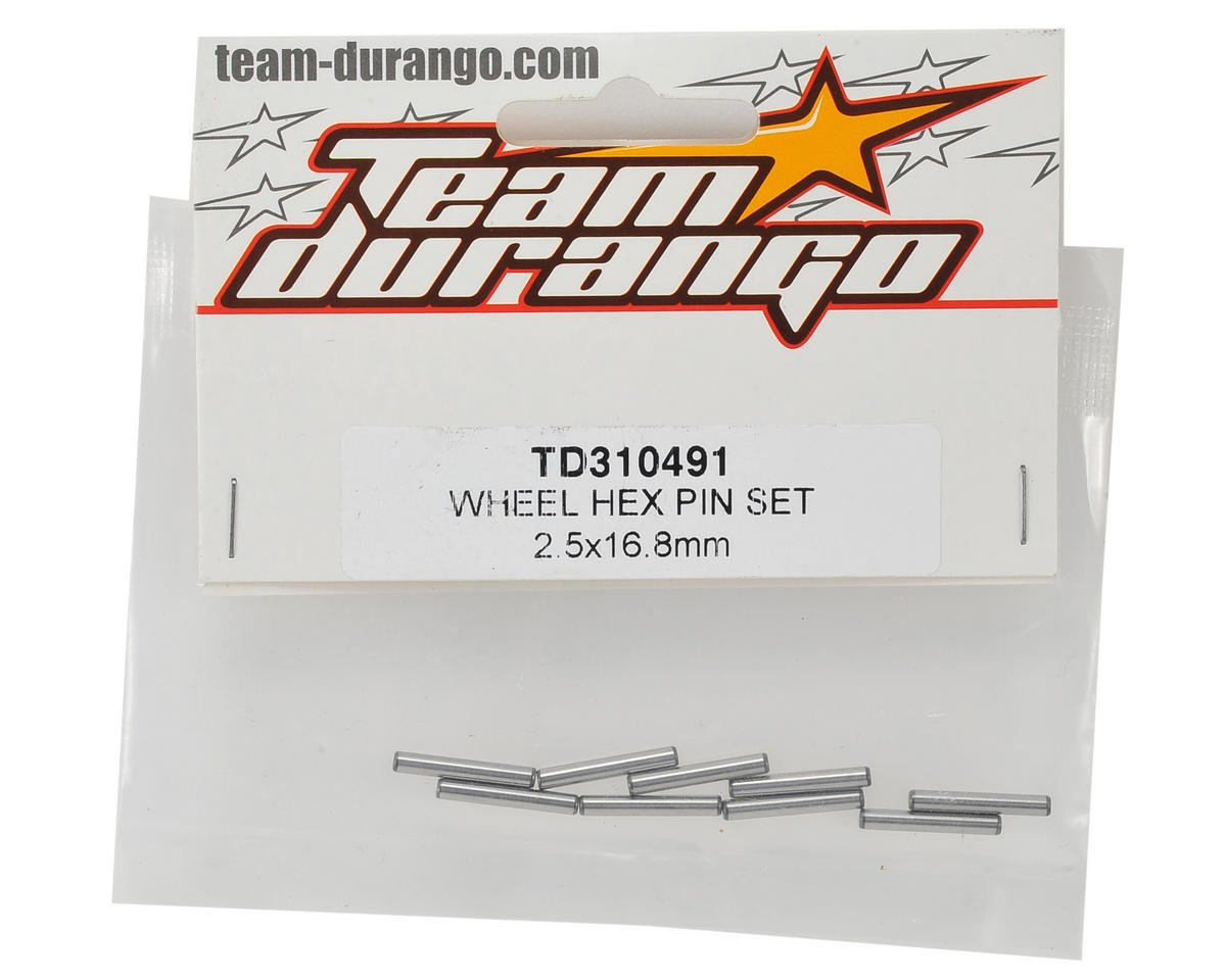 Team Durango 2.5x16.8mm Wheel Hex Pin Set (10)