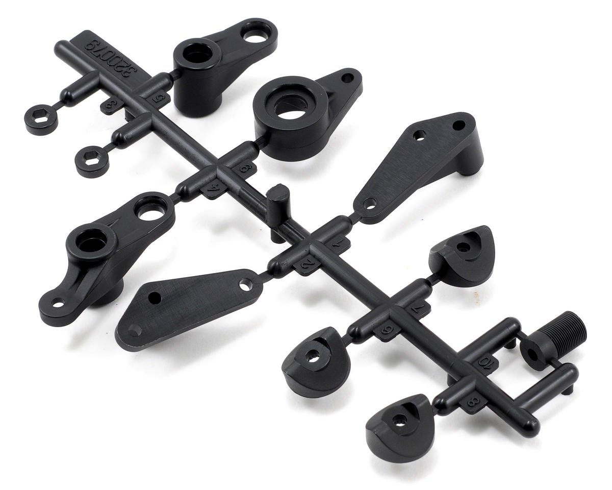 Team Durango DESC410 V2 Steering Arms, Front Chassis Stay & Servo Saver Plastic Part Set