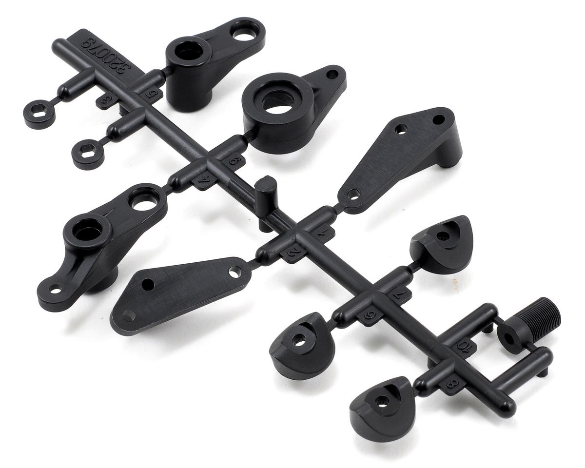 Team Durango Steering Arms, Front Chassis Stay & Servo Saver Plastic Part Set