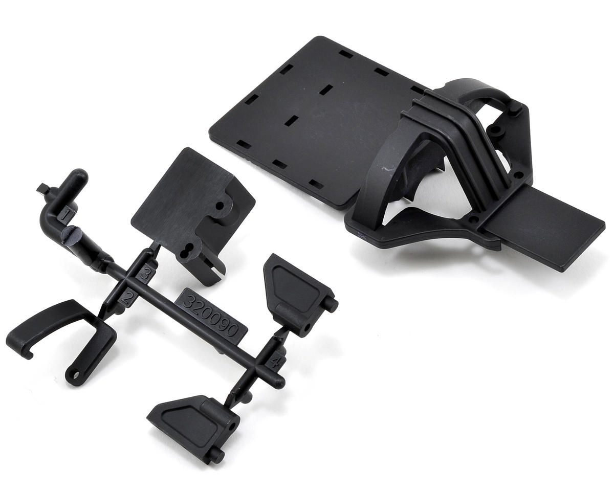 Team Durango Mid Gear Top Plate, Radio Plate & Servo Mount Set