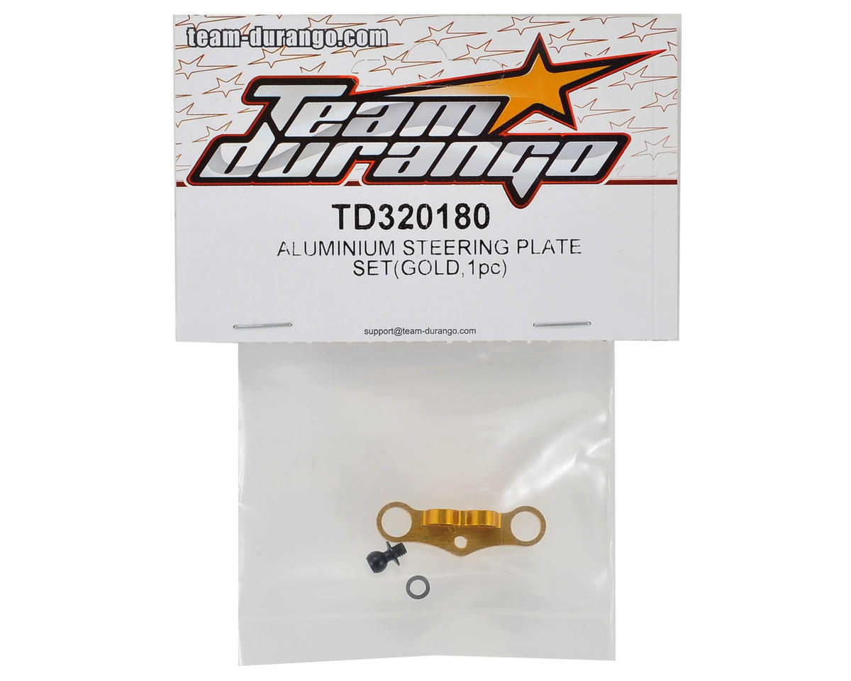 Team Durango Steering Plate Set (Gold)